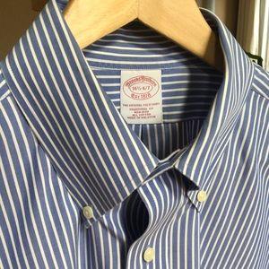 Brooks Brothers Poplin Striped Button Down Shirt
